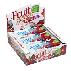 Apple Raspberry Fruit Snax from Nutribiotic are an energizing and healthy snack with 2 whole apples in every bar..