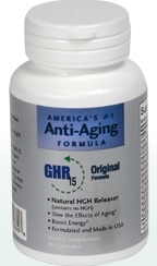 GHR15 all natural formula comprises ingredients determined to naturally enhance and increase Human Growth Hormone production to reverse the effects of aging..