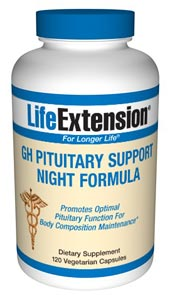 GH Pituitary Support Night Formula with L-Glutamine, Glycine and Vitamin B-3 to aid the healthy functioning of the pituitary gland..