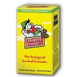 Natural Balance Happy Camper herbal formula contains a unique blend of herbs known to help calm your nerves..