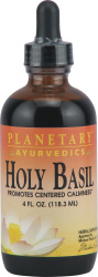 Holy basil is one of the most highly revered herbs in India for promoting a centered sense of mental and emotional well-being. This activity is associated with a reduction of cortisol levels associated with stress..