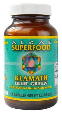 Klamath Blue Green Algae contains a high percentage of usable protein plus a complete range of vitamins unusual for any single food source..