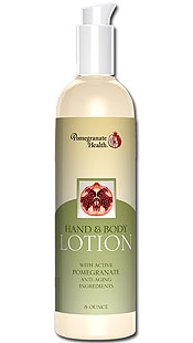 Pomegranate Health Hand & Body Lotion (8oz) is a great anti-aging lotion that is infused with the power of pomegranate, blended with other botanical extracts.