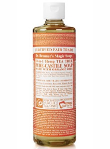 Dr. Bronner's Liquid Organic Hemp/Lavender soap is made with 100% organic essential lavender oil, promotes relaxation and soothes the nerves..