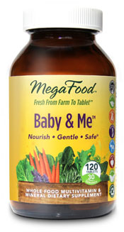 Excellent source of essential vitamins and minerals particularly important to supplement during pregnancy and lactation. MegaFoods Prenatal Multivitamin for Baby & Me is 100% Organic,  non-GMO, Vegetarian, and much more..