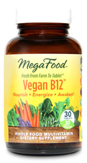Are you considering a vegan diet? Then MegaFoods Vegan B-12 is for you..