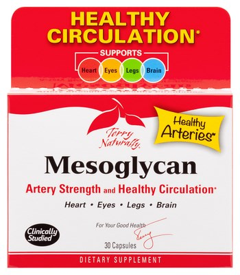 Mesoglycan is an excellent choice for supporting  the entire cardiovascular system, including veins and blood vessels in the legs, eyes, and brain..