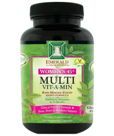 Whole Food based Daily Vitamin & Mineral for Women with higher levels of Potassium, vitamins K1 and K2 for Bone, Heart and Hormone Support..