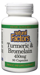 Natural Factors Bromelain and Turmeric capsules enhance digestion naturally while supporting and protecting the liver..