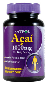Natrol Acai gelcap (60 Vcaps) are highly valued as a rich source of antioxidants and nutrients that promote good health..