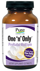 Pure Essence Labs Natural  Prenatal Vitamin Supplement provides superior levels of whole foods based vitamins, minerals and antioxidants..