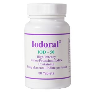 Iodoral IOD-50 from the Optimox Corporation restores cellular balance & promotes proper hormone production..