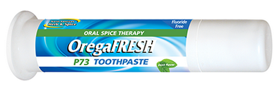 Flouride-free OregaFRESH toothpaste is infused with the power of P73 oregano..