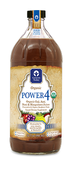 Enjoy the benefits of four popular superfruit juices in one fabulous blend! 100% Certified Organic Power4 by Genesis Today .combines Acai, Goji, Noni and Mangosteen Juices. .
