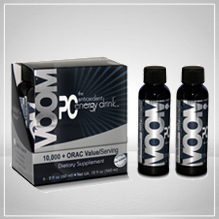 PC Voom Natural Energy Drink contains Blueberry, Elderberry, Pomegranate and Concord Grape juice concentrated with vitamins, minerals and nutrients to help you Stimulate Your Mind - Strengthen Your Body. Caffeine free..