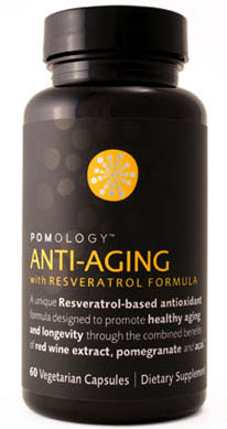 Pomology's Anti-Aging Formula with Resveratrol is the ideal combination of Resveratrol, Pomegranate, Acai and Red wine extract, that have been found to support healthy aging, maintain cell integrity and promote overall wellness, today and for the rest of your life..