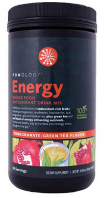 Energy Whole Food Antioxidant Drink Mix adds healthy verve to your day with over 15 whole food concentrates that energize your mind and body naturallywithout excess calories or carbs. Pump up the antioxidants from pomegranates, aai berries, black cherries, blueberries, mangosteen and more with a high ORAC blend that includes cinnamon and green coffee bean extracts..