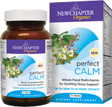Cope with stress in a healthy, natural way with New Chapter Perfect Calm. The effective blend of vitamins and herbs help the body adapt to stress and support wellbeing..
