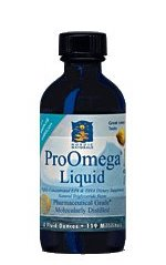 Nordic Naturals ProOmega Liquid is a highly concentrated, pharmaceutical grade fish oil supplement rich in DHA and EPA, both beneficial to a healthy brain and heart..