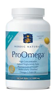 ProOmega from Nordic Naturals supplies the body with highly concentrated forms of DHA and EPA, essential fatty acids which promote a healthy brain and heart..