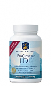 ProOmega LDL contains essential Omega-3s for brain health and Red Yeast Rice plus CoQ10 to help maintain healthy cholesterol levels..