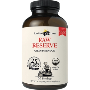 Raw Reserve has over 25 billion probiotics per serving, and is the ultimate combination of whole organic SuperFoods..