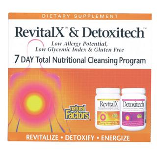 with RevitalX and Detoxitech Low Allergy Potential, Low Glycemic Index & Gluten Free.