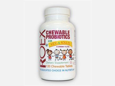 Roex Chewable Probiotics. Each tasty tablet  delivers 5 billion CFU's of 3 strains of beneficial bacteria. Buy Today at Seacoast..