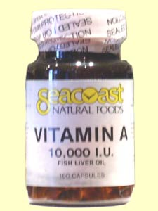 Seacoast Natural Foods Vitamin A, made from fish liver oil, is an all-natural way to keep eyes healthy. It keeps the skin, eyes, and mucous membranes moist..