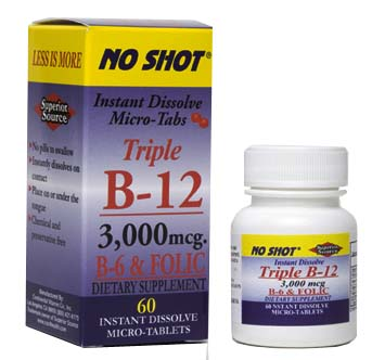 Vitamin B-12 is necessary for the development, regeneration and vitality of red blood cells that prevent anemia, boosts energy, promotes growth and supports a healthy nervous system..