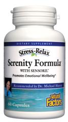 Serenity Formula from Natural Factors with Sensoril promotes emotional wellbeing.