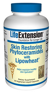 Replace the natural skin-nourishing oils and restore dry, wrinkled and aging skin with a proven revolutionary oral formula by Life Extension, Skin Restoring Phytoceramides with Lipowheat.  Shop Today at Seacoast.com and Save $$!.
