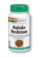 Solaray Maitake Mushroom (100 Caps) is a mushroom supplement containing Maitake, Reishi and Shiitake mushrooms..