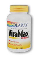 Solaray ViraMax for Women is a performance formula with Brazilian Catuaba that helps support a women's sexual performance..