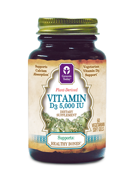 100% Vegetarian and Plant-Derived Vitamin D3. Support Healthy Bones without compromising vegetarian diets..