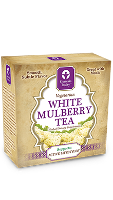 Bursting with benefits tea made from the leaves of white mulberry (Morus alba) to support your healthy lifestyle..
