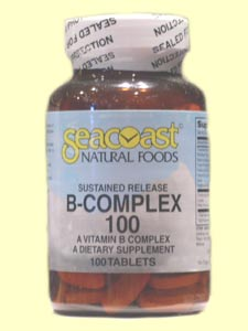 Seacoast Vitamins B-Complex 100 mg Time Release Tablets for maximum absorption..