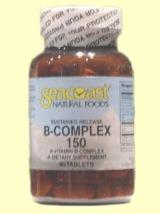 Seacoast Vitamin B-Complex, 150 mg, 90 Time Release Tablets.
