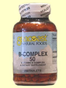 Seacoast Vitamin B-Complex, 50 mg, 250 Tablets.