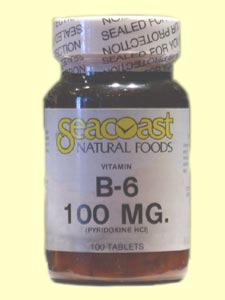Vitamin B6 100mg from SeaCoast Natural Foods provides energy, supports the immune system, and helps regulate mood and attitude..