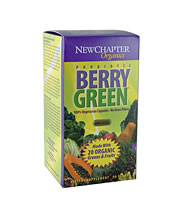 New Chapter has selected only the finest organic fruits and green vegetables for Berry Green and packs vitamins and minerals from over 20 greens and fruits into each individual capsule..
