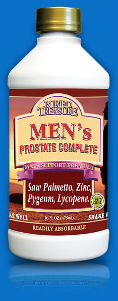 Buried Treasure developed Men's Prostate Complete to help balance men's hormone levels, prevent inflammation and swelling, improve circulatory and urinary functions, and support a healthy prostate gland..