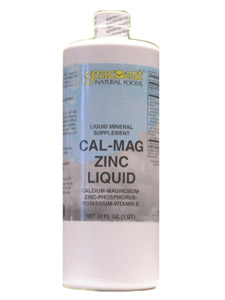 Seacoast Natural Foods Cal-Mag Zinc Liquid (32oz) is a natural trio of Calcium, Magnesium and Zinc. It is a powerful product that is good for the everyday diet..
