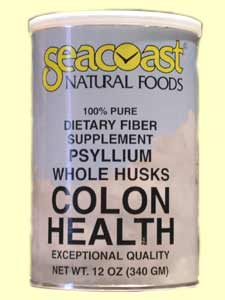 Seacaost Colon Health, Exceptional Quality Whole Psyllium Husk Dietary Fiber Supplement.