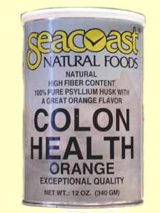Seacoast Colon Health Orange Flavor, High Fiber Content, 100% Pure Psyllium Husk with a Great Orange Flavor..