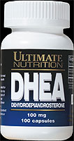 Each capsule contains 100 mg of DHEA (Dehydroepiandrosterone) Pharmaceutical Grade..