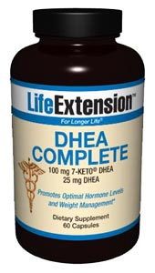 DHEA Complete from Life Extension contains an effective anti-aging knockout combination of DHEA, 7-Keto DHEA and antioxidants to help restore youthful vitality..
