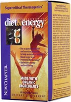 Supercritical Diet & Energy by New Chapter nourishes the body with a proprietary blend of thermogenic herbals and other nutrient-rich ingredients enhancing the metabolism and increasing energy levels..