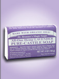 All-One Hemp Lavender Pure-Castile soap is one of many in the line from Dr. Bronner's Magic Soaps; providing mental relaxation- soothing and calming the nerves..