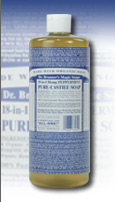 18-in-1 Hemp Peppermint Liquid Soap from Dr. Bronner now available from Seacoast Vitamins in a 32 fl. oz. 100% post-consumer recycled plastic bottle..